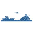 Salvage operation vector image