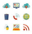 Modern flat design Internet network communication vector image