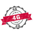 4g stamp sign seal vector image