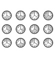 clock measure icons set vector image vector image