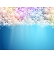 abstract bubbles background vector image