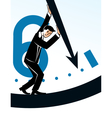 Businessman stopping time vector image