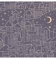 cartoon city nightlife seamless pattern vector image