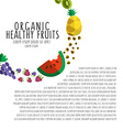 colorful of colorful fruit template in flat vector image