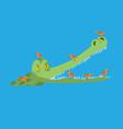 crocodile and bird little birds clean alligator vector image