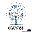 Energy tree of light bulbs vector image