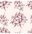 floral blooming lilies background hand drawn vector image