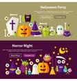 Halloween Website Banners vector image