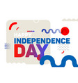 happy independence day modern background vector image