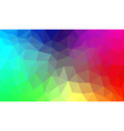 Rainbow abstract polygon background vector image