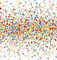 seamless confetti vector image