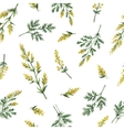 Watercolor seamless pattern with wormwood vector image