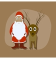 paper sticker on stylish background Santa Claus vector image