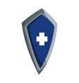 blue shield warrior protection medieval vector image