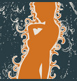 confused woman silhouette vector image