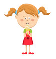 happy cute little girl eating ice cream vector image