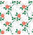 Seamless floral background roses vector image vector image