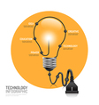 technology infographic plug line idea innovation vector image