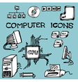 computer icons doodle vector image