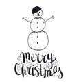 hand drawn christmas with vector image