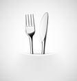 Fork and knife in a napkin vector image