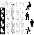 Office business chairs vector image