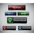 Set of color web buttons vector image vector image