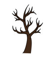 dry tree isolated icon vector image