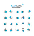 easy icons 05d briefcases vector image
