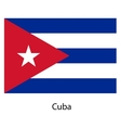 Flag of the country cuba vector image