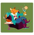 Fox relax vector image