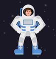 Angry Astronaut Cosmonaut disgruntled Aggressive vector image