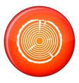 Tree ring icon flat style vector image