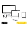Modern laptop glossy tablet and smartphone vector image