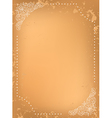 grungy background with white decorative frame vector image