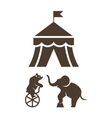Set of silhouette circus icons vector image