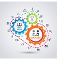 business process infographics set of business and vector image