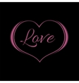 Pink Heart on Black Background for a Valentine Day vector image