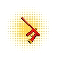 Paintball gun comics icon vector image