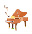 A view of piano vector image
