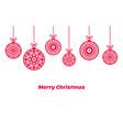 christmas balls ornaments xmas decoration vector image