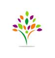 happy man tree abstract beauty logo vector image