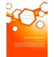 Orange hexagons vector image