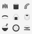 rice icon silhouette design icon vector image