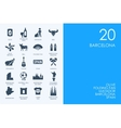 Set of BLUE HAMSTER Library Barcelona icons vector image