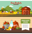 Two Farm Banners In Flat Style vector image