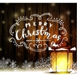 Vintage Christmas wood background vector image