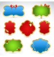 Christmas sale stickers and tags for text vector image vector image