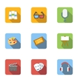 Art and creativity icons set flat style vector image vector image