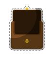 brown wallet icon vector image